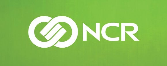 NCR logo, in white on green background