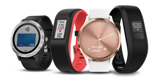 Garmin family of watches and trackers