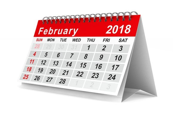 February 2018 caledar