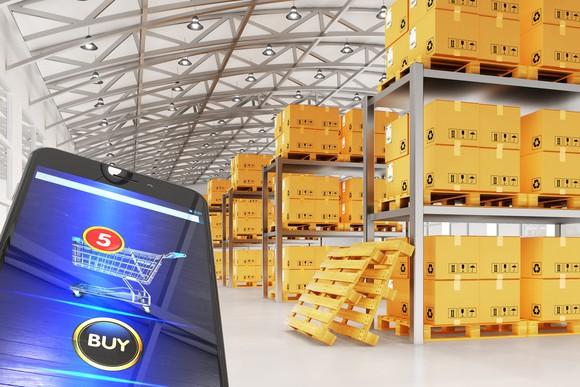 An e-commerce logistics warehouse