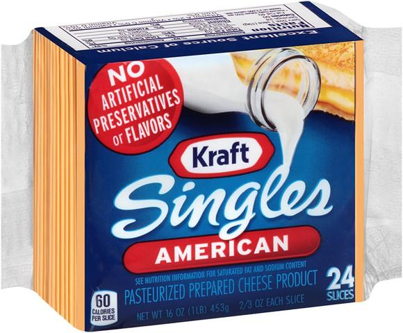 A package of Kraft american cheese singles