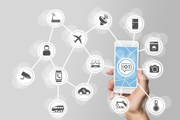 A smartphone connecting to the Internet of Things  - iot smartphone large - Google Is Acquiring Xively's Internet of Things Platform — The Motley Fool