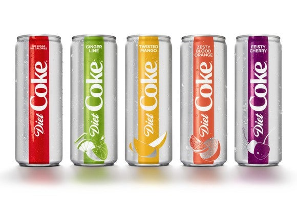 Cans of flavored Diet Coke