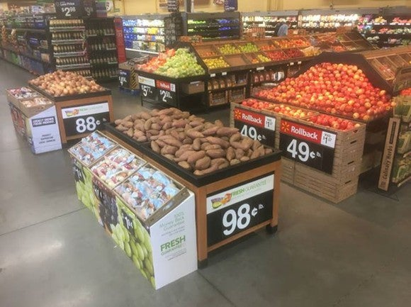 Walmart produce aisle