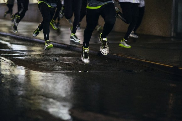Runners at night