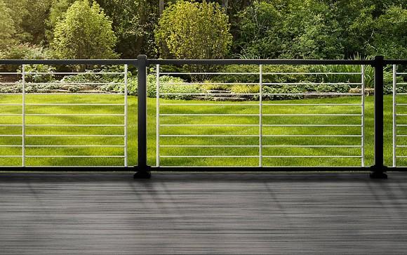 "Trex deck with new ""Signature Rod"" railing."