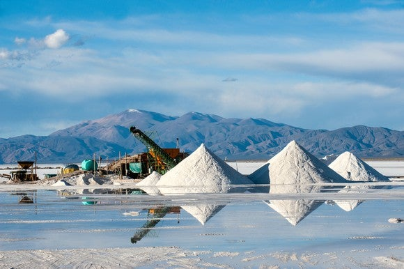 Lithium collection and processing facility