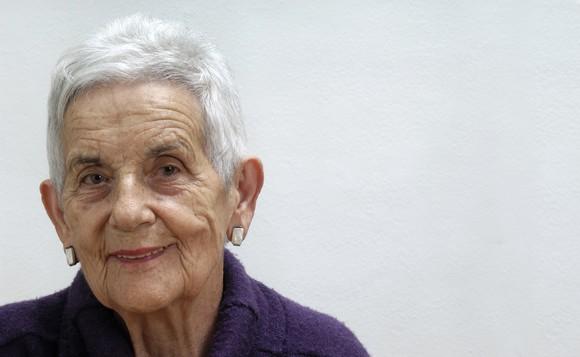 Smiling senior woman.