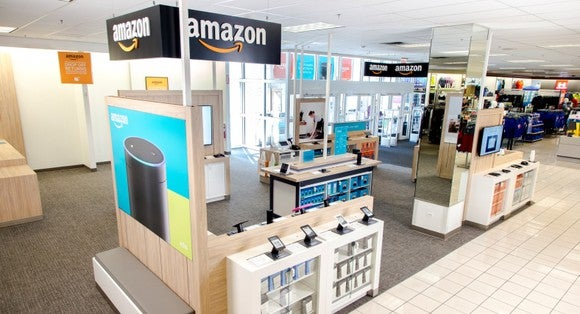 An Amazon smart home shop inside a Kohl's store