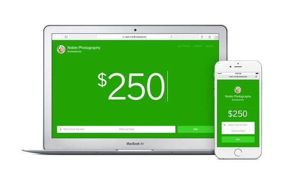 A view of Square's Cash application on desktop and smartphone.