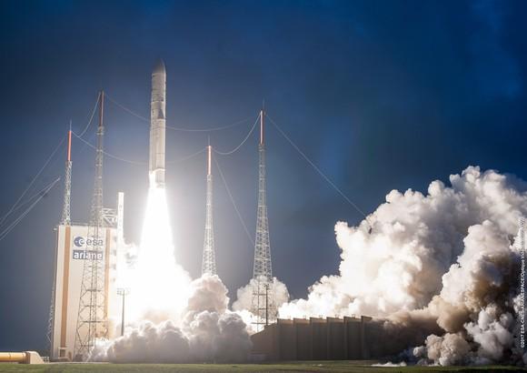 The launch of an Intelsat rocket.