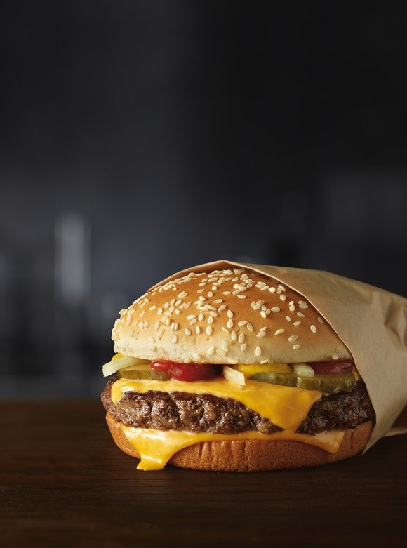 McDonald's new fresh beef quarter pounder.