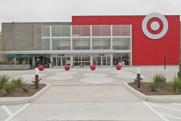 The entrance to a Target store