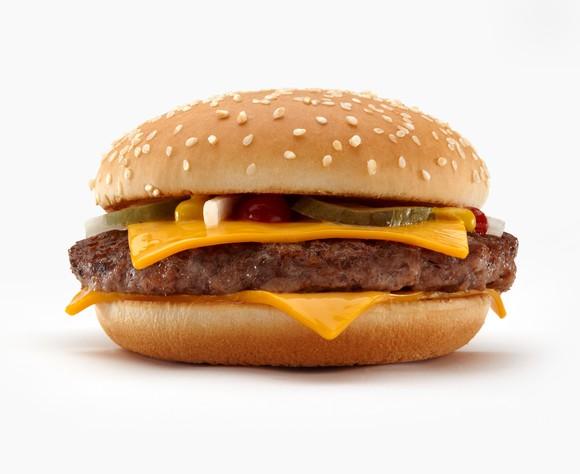 A Quarter Pounder from McDonald's.