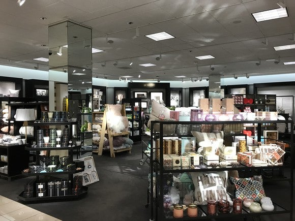 A small collection of home goods in a Nordstrom store