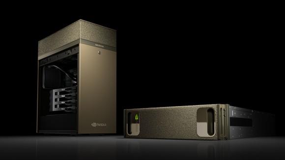 NVIDIA DGX Station AI supercomputer.