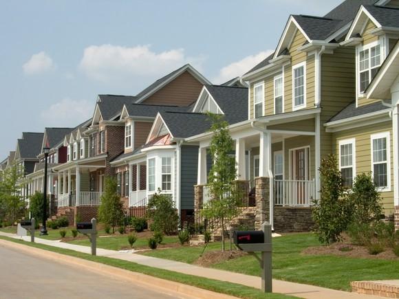 A set of row houses