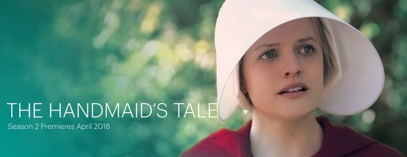 """An ad for Hulu's """"The Handmaid's Tale"""" shows Elisabeth Moss as Offred"""