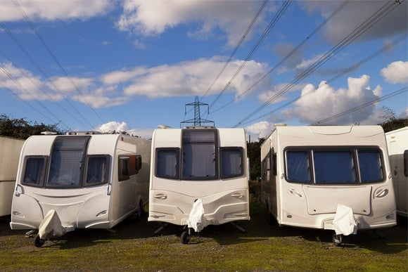 Three RVs in a row