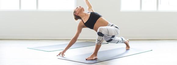 A yogi performing a pose