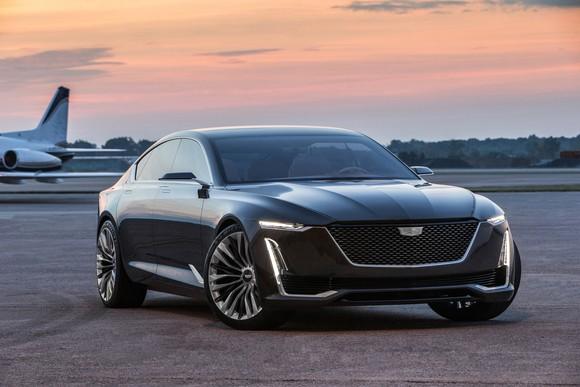 The Cadillac Escala show car, a futuristic luxury sedan.