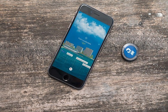 Carnival's Ocean medallion tethered to a Bluetooth phone.