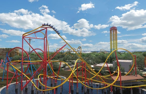 Wonder Woman Golden Lasso coaster set to open in April at Six Flags Fiesta Texas.
