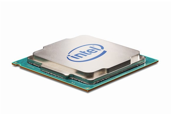An Intel desktop processor.