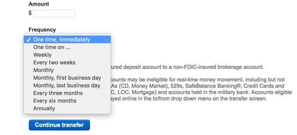 Merrill Edge Transfer options through their internet platform.