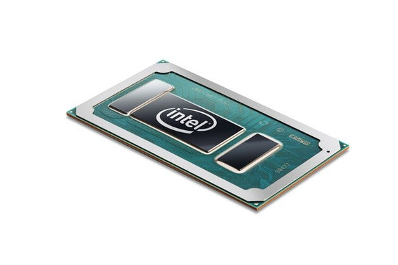 An Intel laptop chip.