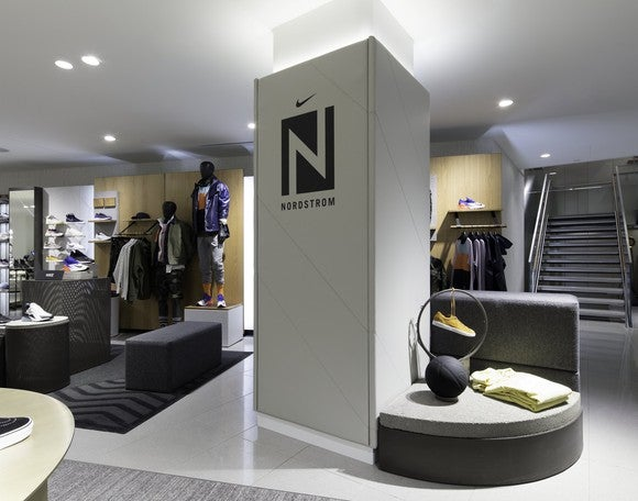 The Nike shop at the new Nordstrom Men's Store in Manhattan