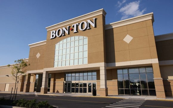 The exterior of a Bon-Ton department store