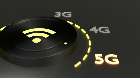 A dial showing 3G, 4G, and 5G