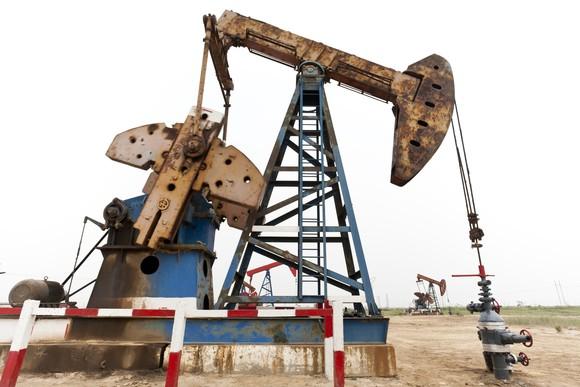 rusty oil pump.