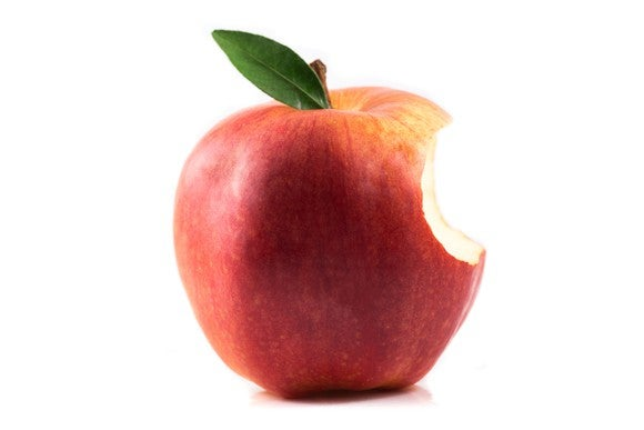Apple with a bite out of it