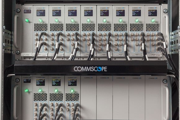 A CommScope cable tray.