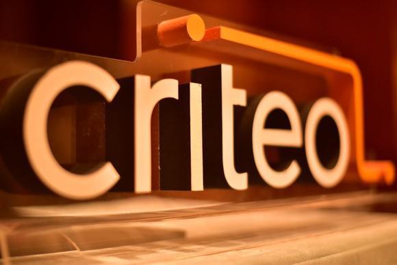 3D Criteo logo in orange.