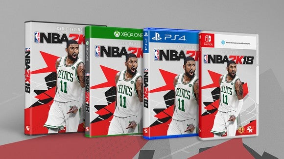 NBA 2K18 box art depicting a real NBA player under the title of the game.