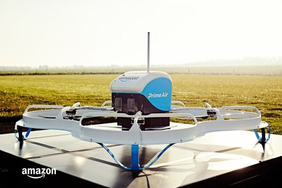 An Amazon drone.