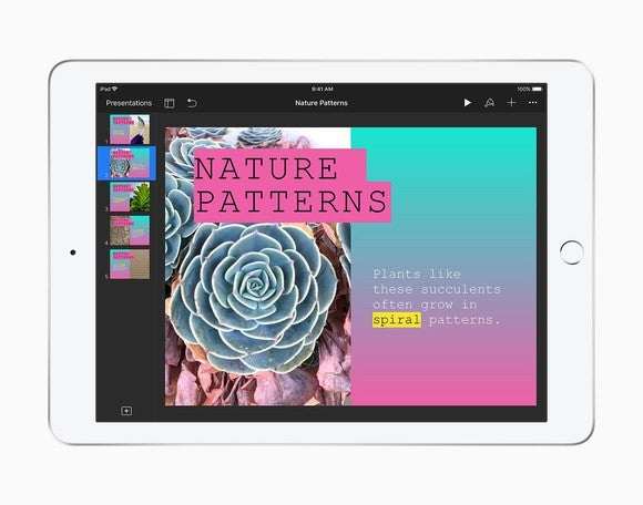 An Apple iPad.