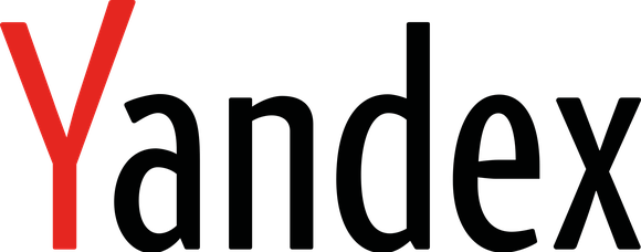 Yandex text logo with the Y in red and remaining letters in black