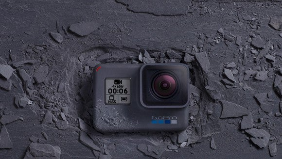 A GoPro camera.