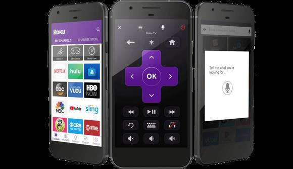Smartphones with Roku app featured