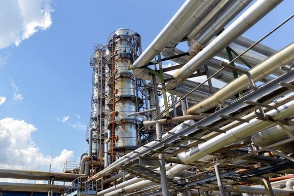 Natural gas processing facility.