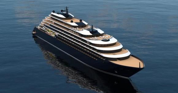 Rendering of prototypical Ritz-Carlton yacht.