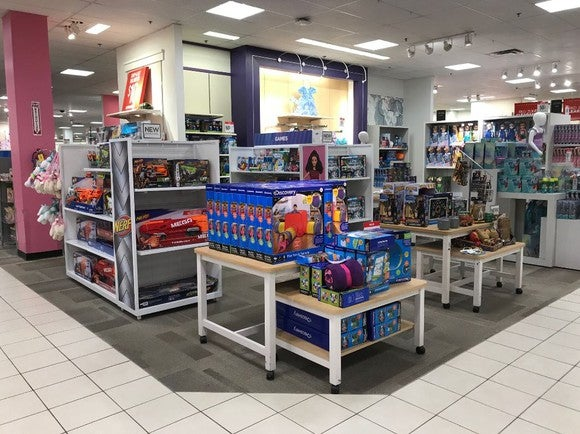 An expanded toy shop at JCPenney