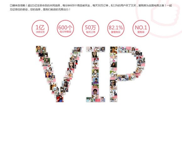 VIP's page showing shopper photos spelling V-IP.