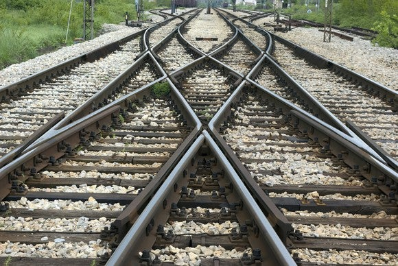 a railway track junction