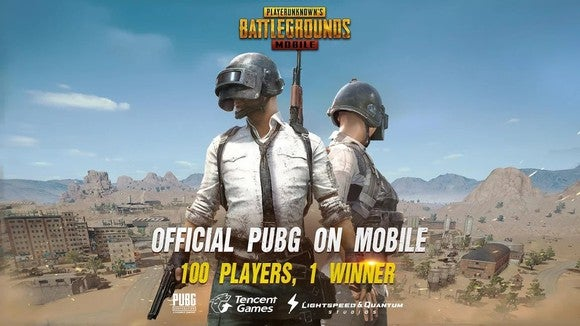 Two soldiers posing on the cover of PUBG Mobile.
