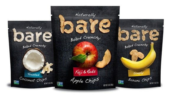 Three different Bare snacks